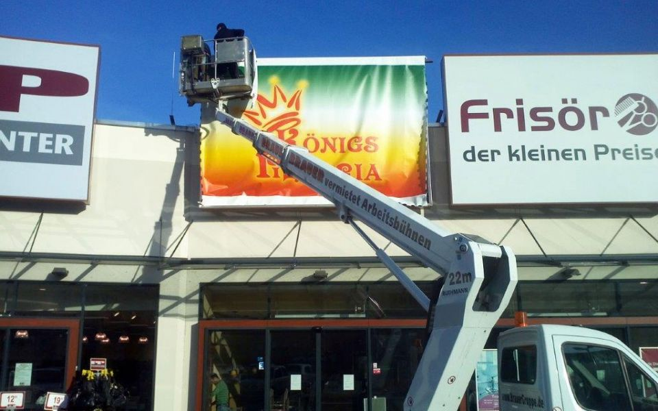 Spanntransparent XXL Werbung
